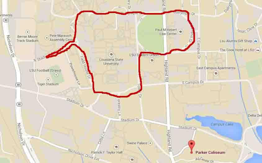 Saturday Walk 3 29 2014 at LSU Baton Rouge 360 - BTR360