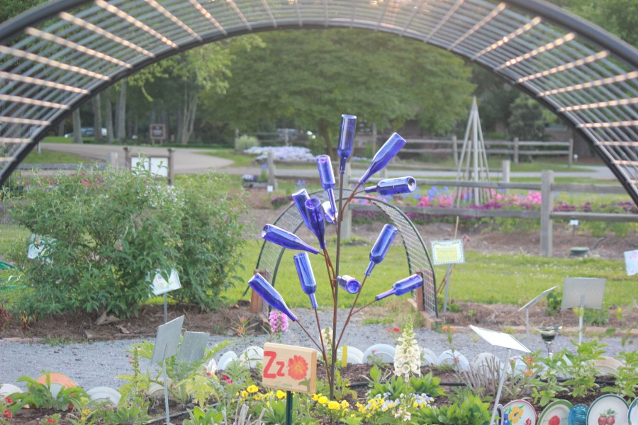 Decorative Bottle's at LSU Children's Garden