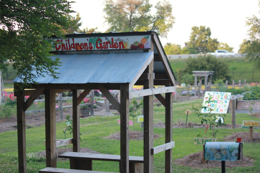 Children's Garden Sign at Burden