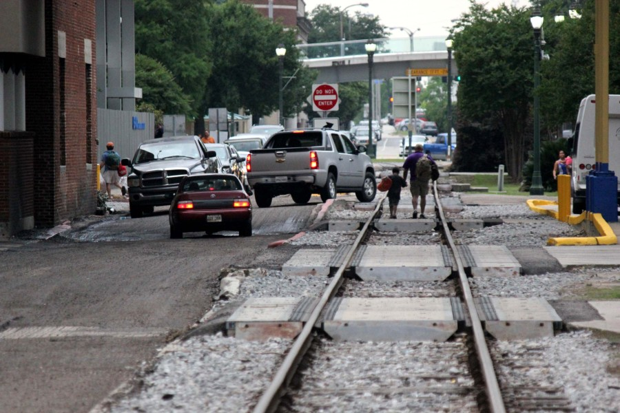 Downtown Baton Rouge Railroad Track by Belle of BR