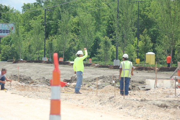 Construction Workers at Walmart site