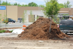 Dirt Pile at Construction Site