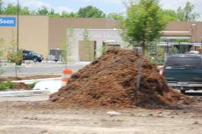 Dirt Pile at Construction Site