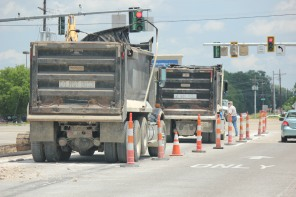 Trucks at Construction Site Walmart
