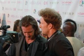 Florida Georgia Line, Tyler Hubbard & Brian Kelley, at Red Carpet in Baton Rouge, Miss USA 2014.