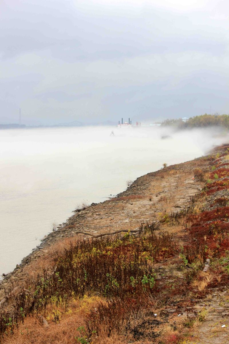 Mist on The Mississippi River