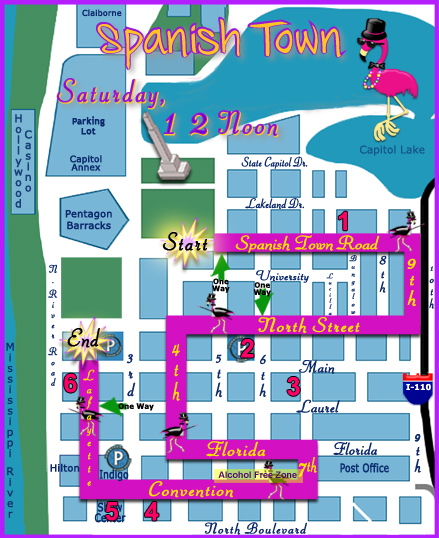 Spanish Town Parade Baton Rouge Route Map 2015