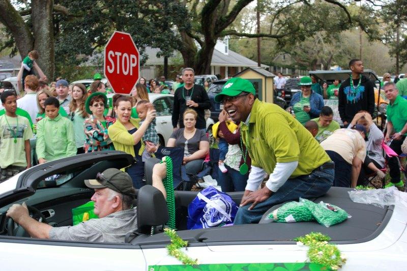 Baton Rouge Mayor Kip Holden at St Patricks Day Parade 2015