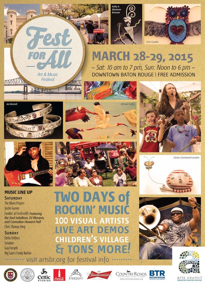 Fest for All - Art & Music Festival - Baton Rouge 2015