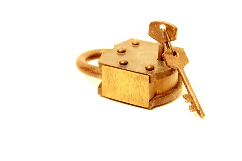 Golden Lock with Key by Kevin Woolsey Photography - Baton Rouge, Louisiana