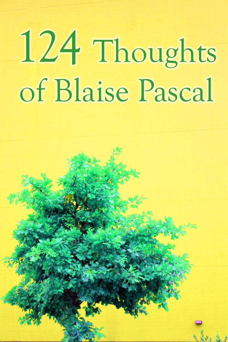 124 Thoughts of Blaise Pascal FREE BOOK ONLINE