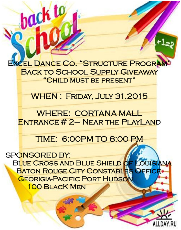 Back to School Supply Giveaway Free Baton Rouge Event Cortana Mall