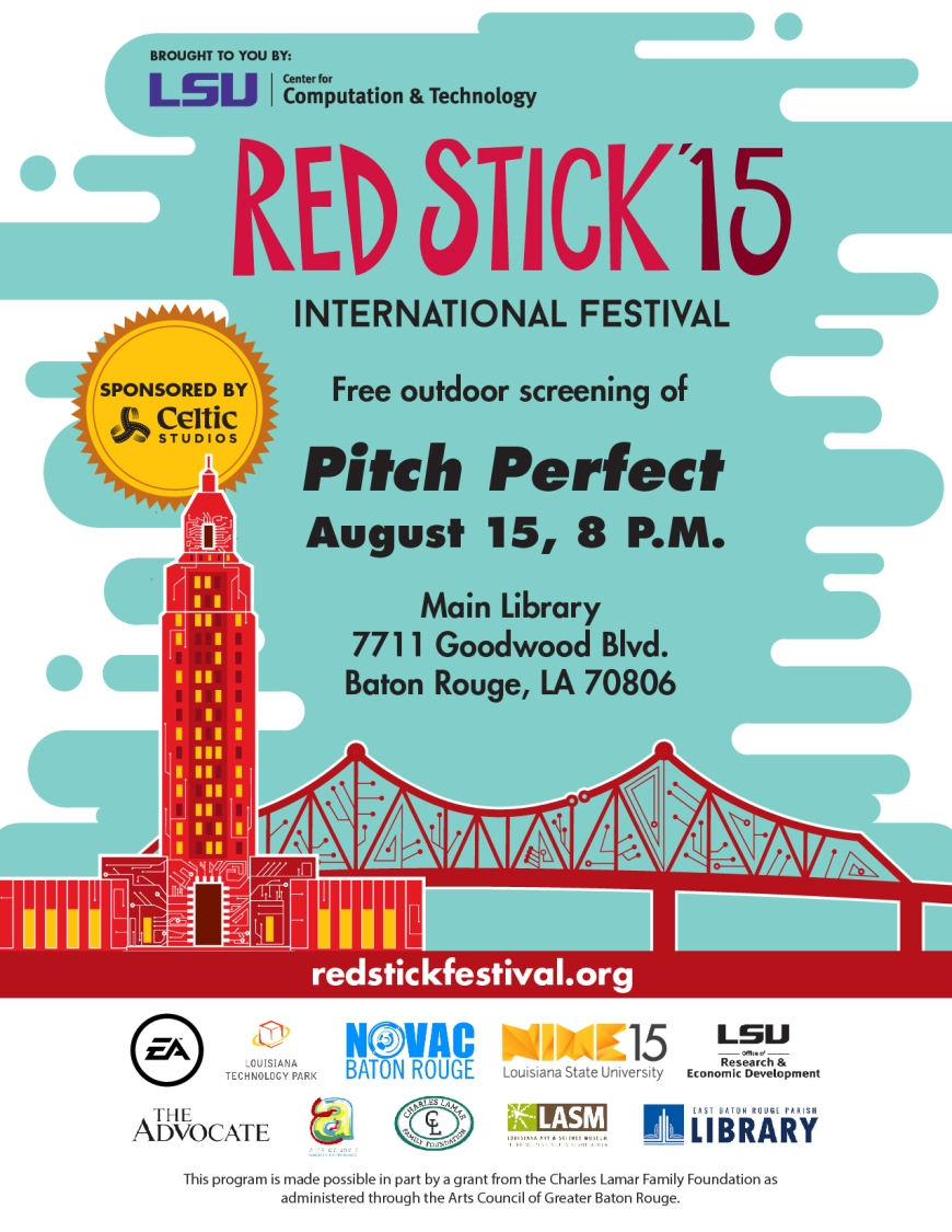 EBR Pitch Perfect Free Outdoor Screening Event Movie Baton Rouge