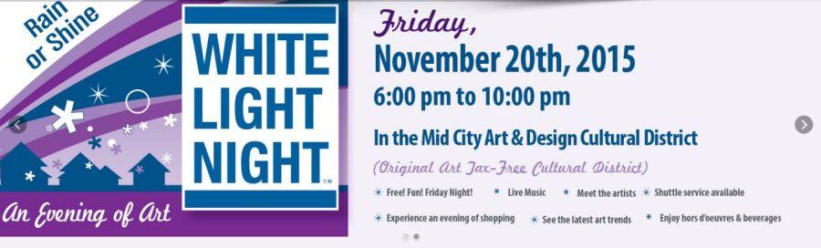 White Light Night Mid City Art & Design Cultural District