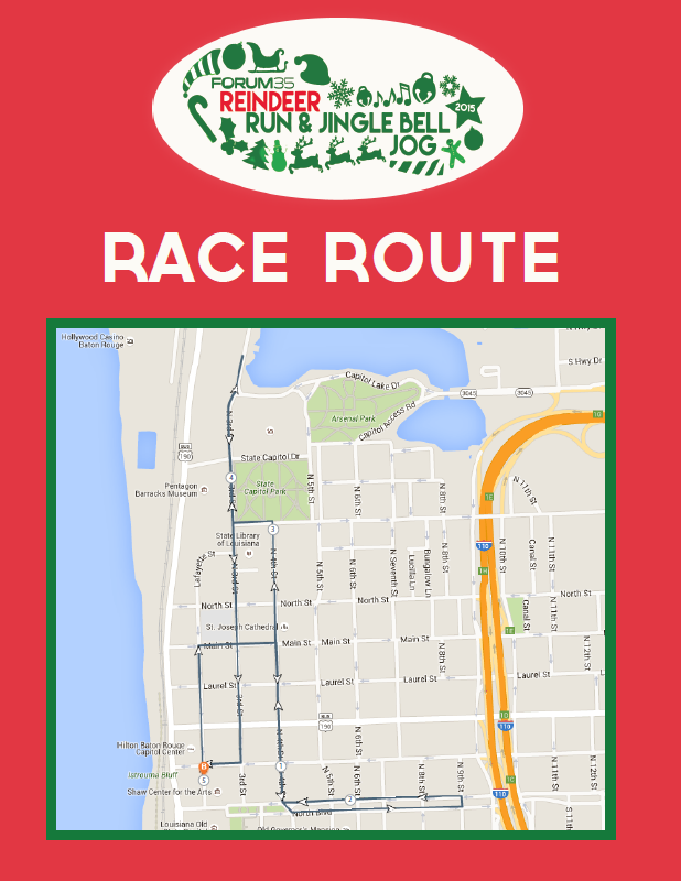 Reindeer Run Baton Rouge Map Route 2015